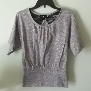 Cute sparkly short sleeve top